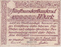 500000 марок 1923 года Германия