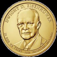 1 доллар 2015 года Дуайт Эйзенхауэр 34 президент