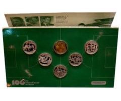 Набор монет 100 лет футболу 1997 года