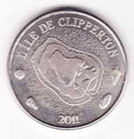 10 франков 2011 года остров Клиппертон