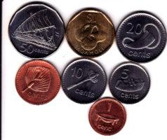 Набор монет Фиджи 7 шт