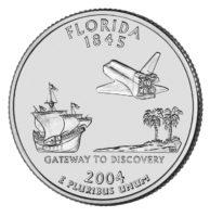 25 центов США Штат Флорида