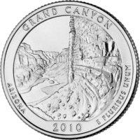25 центов США Национальный парк Гранд Каньон Аризона