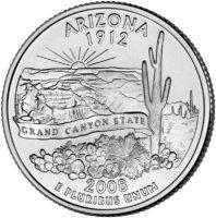 25 центов США Штат Аризона