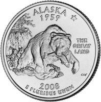 25 центов США Штат Аляска
