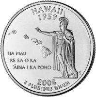 25 центов США Штат Гавайи