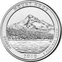 25 центов США Национальный лес Маунд Худ Орегон