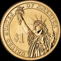 1 доллар 2007 США  John Adams 2й президент