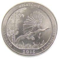 """25 центов США 2015 г. """"Национальные лес Kisatchie"""""""