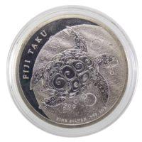 """Острова Фиджи. 2 доллара 2010 г. """"Черепаха Таку"""""""