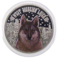 """Острова Ниуэ. 2 доллара 2014 г. """"Западно-Сибирская Лайка"""""""