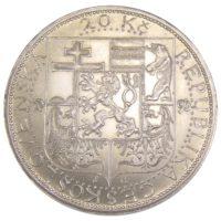 "Чехословакия. 20 крон 1937 г. ""Смерть президента Масарика"""