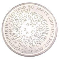 """10 марок 1999 г. """"50 лет Немецкой Конституции"""""""