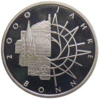 10 марок 1989 г. «2000 лет городу Бонн»