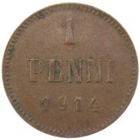 1 пенни 1914 г.