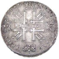 1 рубль 1728 г. Пётр II