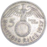 5 рейхсмарок 1937 г. D
