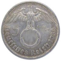 5 рейхсмарок 1939 г. A