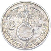2 рейхсмарки 1937 г. F