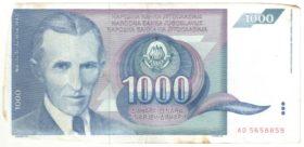 Югославия. 1000 динаров 1991 г.