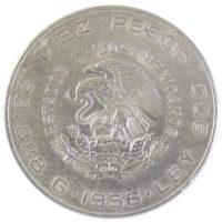 Мексика. 10 песо 1956 г.