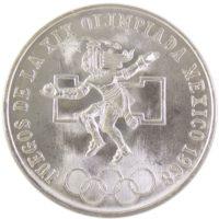 """Мексика. 25 песо 1968 г. """"Летние Олимпийские игры 1968, Мехико"""""""