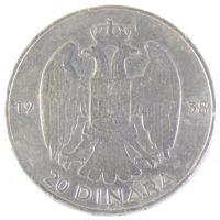 Югославия. 20 динаров 1938 г.