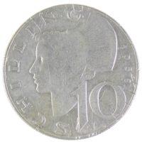 Австрия. 10 шиллингов 1958 г.