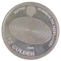 """Нидерланды. 10 гульденов 1999 г. """"Миллениум"""""""
