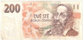 Чехия. 200 крон 1996 г.