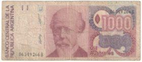Аргентина. 1000 аустралей 1988 г.