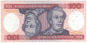 Бразилия. 100 крузейро 1981-1984 гг.