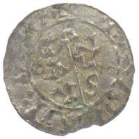 Денарий. Гронинген епископ  Бертольд 1040-1054 г.