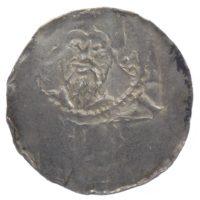 Денарий. г. Майнц. Архиепископ Бардо фон Опперсхофен 1031-1051 г.