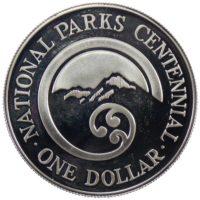 Новая Зеландия. 1 доллар 1987 г. «НАЦИОНАЛЬНЫЙ ПАРК»