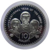 """Лесото. 10 малоти 1979 г. """"Международный год детей"""""""