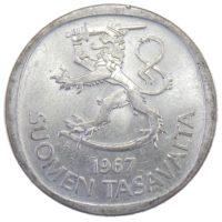 ФИНЛЯНДИЯ. 1 МАРКА 1967 Г.