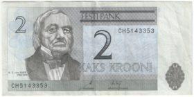 Эстония. 2 кроны 2007 г.