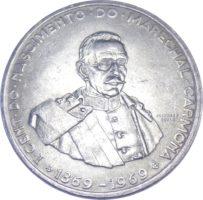 """Португалия. 50 эскудо1969 г. """"100 лет со дня рождения Ошкара Кармона"""""""