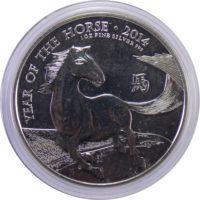 """Великобритания. 2 фунта 2014 г. """"Год лошади"""""""