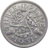 Великобритания. 3 пенса 1931 г.