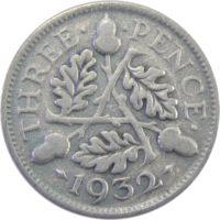 Великобритания. 3 пенса 1932 г.