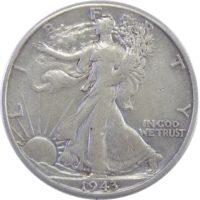 50 центов 1943 г. «Шагающая свобода»