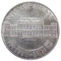 """Австрия. 25 шиллингов 1971 г. """"200 лет Венской бирже"""""""
