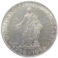 """Австрия. 25 шиллингов 1956 г. """"200 лет со дня рождения Вольфганга Амадея Моцарта"""""""