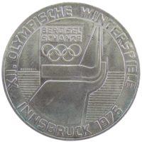 """Австрия. 100 шиллингов 1976 г. """"Зимние Олимпийские игры. Инсбрук 1976. """""""