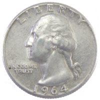 США. 25 центов 1964 г.