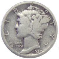 США. 10 центов 1927 г.