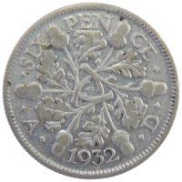 Великобритания. 6 пенсов 1932 г.