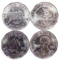Боливия. Набор монет 2 боливано 2017 г.  «ТИХООКЕАНСКАЯ ВОЙНА»